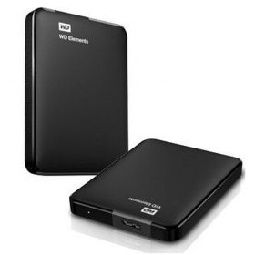 "Western Digital-WDBU6Y0020BBK-WESN-Western Digital WD Elements Portable 2TB USB 3.0 2.5"" External Hard Drive - Slim Light Durable Shock Proof Black Plug  Play NTFS for Windows 10/8.1/7"