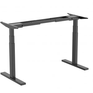 Brateck-M09-23D-B-Brateck High performance 3-Stage Dual Motor Sit-Stand Desk 1000~1500x600x620~1280mm (Black FRAME ONLY); Requires TP15075 for the Board