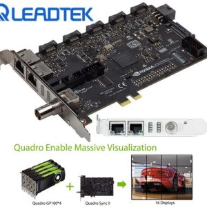 Leadtek-SYNC2-Leadtek nVidia Quadro SYNC II Card to connects up to 32 4K Synchronized Displays for GP100 P4000 P5000 P6000 Project Overlay  Stereoscopic Display