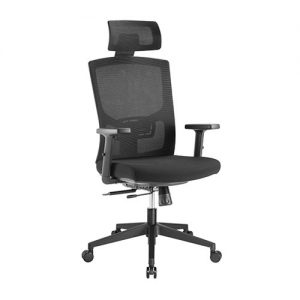 Brateck-CH05-17-Brateck Ergonomic Mesh Office Chair with Headrest (655x675x1165-1265mm) Up to 150kg - Mesh Fabric