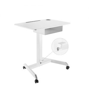 Brateck-FWS07-4-Brateck Height Adjustable Mobile Workstation With Drawer - White