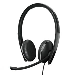 Sennheiser-1000908-EPOS | Sennheiser ADAPT 165 II On-ear double-sided headset with 3.5 mm jack and leatherette earpads. Certified with Chromebook.