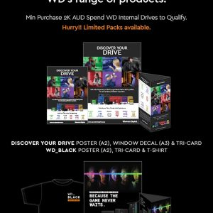 WD-HBWD-WDMKPACK-Buy $500 WD + Get 1x FREE WD Marketing Pack - Your Drive A2 Poster