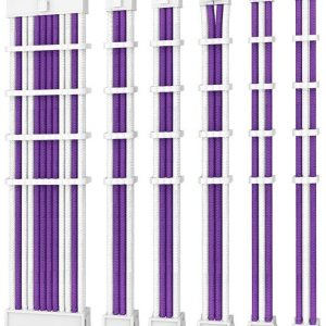 Antec-PSUSCW30-205-P/W-Antec PSU -  Sleeved Extension Cable Kit V2 - Purple / White. 24PIN ATX