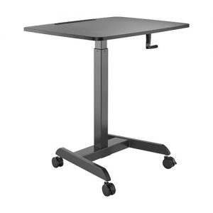 Brateck-FWS08-4-B-Brateck Manual Height Adjustable Workstation with casters  - Black