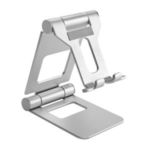 Brateck-PHS05-2-SILVER-Brateck Aluminium Foldable Stand Holder for Phones and Tablets- Silver