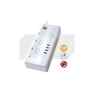 Generic-PAD-4044C-Sansai 4 Outlets  4 USB Outlets Surge Protected Powerboard (PAD-4044C)