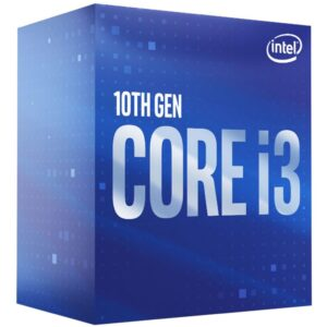 Intel-P-BX8070110100F-P-Intel Core i3-10100F CPU 3.6GHz (4.3GHz Turbo) LGA1200 10th Gen 4-Cores 8-Threads 6MB 65W Graphic Card Required Retail Box 3yrs Comet Lake