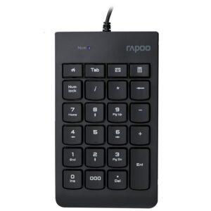 Rapoo-K10-RAPOO K10 Wired Numeric NumberPad Keyboard -  Spill Resistant Design