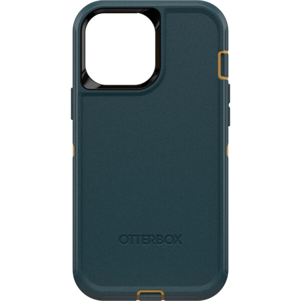 Otterbox-77-83433-OtterBox Apple  iPhone 13 Pro Max Defender Series Case - (77-83433) - Hunter Green - Multi-layer defense with a solid inner shell