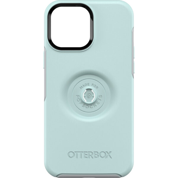 Otterbox-77-83553-OtterBox Apple  iPhone 13 Pro Max Otter + Pop Symmetry Series Antimicrobial Case (77-83553)- Tranquil Waters (Blue) -  protects case exterior