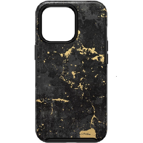 Otterbox-77-83576-OtterBox Apple iPhone 13 Pro Symmetry Series Antimicrobial Case -(77-83576) Enigma Graphic (Black/Gold)