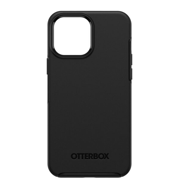 Otterbox-77-83600-OtterBox Apple iPhone 13 Pro Max Symmetry Series+ Antimicrobial Case with MagSafe (77-83600) - Black - Raised edges protect camera and screen