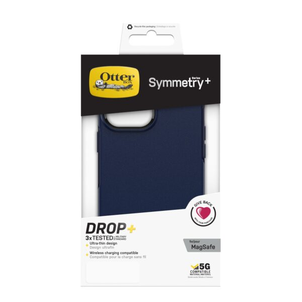 Otterbox-77-83602-OtterBox Apple iPhone 13 Pro Max Symmetry Series+ Antimicrobial Case with MagSafe - Navy Captain - Convenient open access to ports and speakers