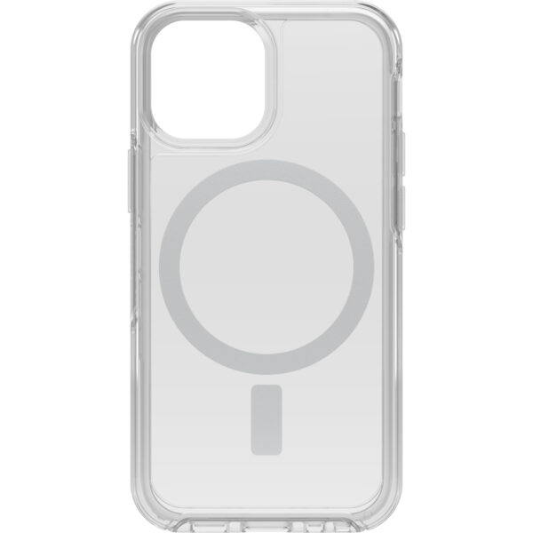 Otterbox-77-83650-OtterBox Apple iPhone 13 mini Symmetry Series+ Clear Antimicrobial Case for MagSafe (77-83650) - Clear - Strong magnetic alignment and attachment