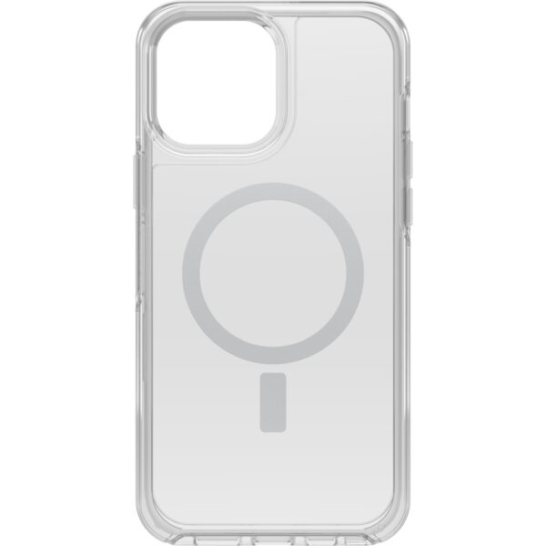 Otterbox-77-83662-OtterBox Apple  iPhone 13 Pro Max Symmetry Series+ Clear Antimicrobial Case for MagSafe (77-83662) - Strong magnetic alignment and attachment