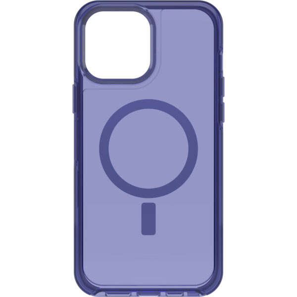 Otterbox-77-83664-OtterBox Apple  iPhone 13 Pro Max Symmetry Series+ Clear Antimicrobial Case for MagSafe(77-8) - Feelin Blue - Strong magnetic alignment and attachment