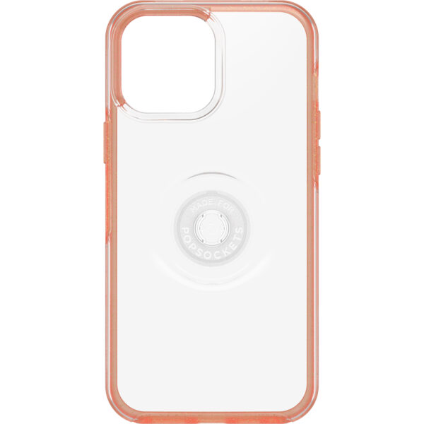 Otterbox-77-83713-OtterBox Apple iPhone 13 Pro Max Otter + Pop Symmetry Series Clear Case (77-83713) - Melondramatic (Clear/Orange) - Wireless charging compatible (may