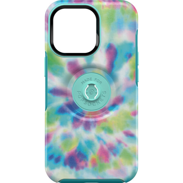 Otterbox-77-84578-OtterBox Apple iPhone 13 Pro Otter + Pop Symmetry Series Antimicrobial Case - Day Trip Graphic (Green/Blue/Purple) (77-84578)