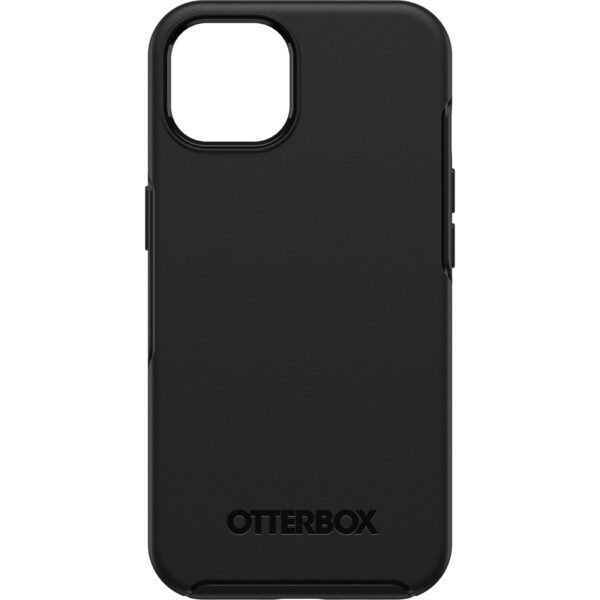 Otterbox-77-85339-OtterBox Apple iPhone 13 Symmetry Series Antimicrobal Case (77-85339) - Black - Thin profile slips easily into tight pockets