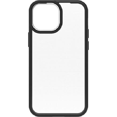 Otterbox-77-85581-OtterBox Apple iPhone 13 mini React Series Case- Black Crystal (Clear/Black) ( 77-85581 ) - one-piece design case slips easily in and out of pockets.