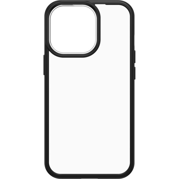 Otterbox-77-85593-OtterBox iPhone 13 Pro React Series Case ( 77-85593 ) - Clear / Black - Raised screen bumpers help protect touchscreen