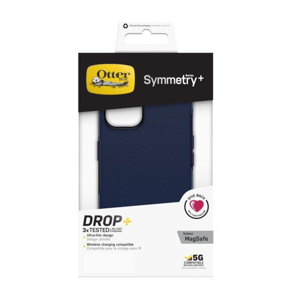 Otterbox-77-85617-OtterBox Apple iPhone 13 Symmetry Series+ Antimicrobial Case with MagSafe - Ant Navy Captain(77-85617) - Wireless charging compatible