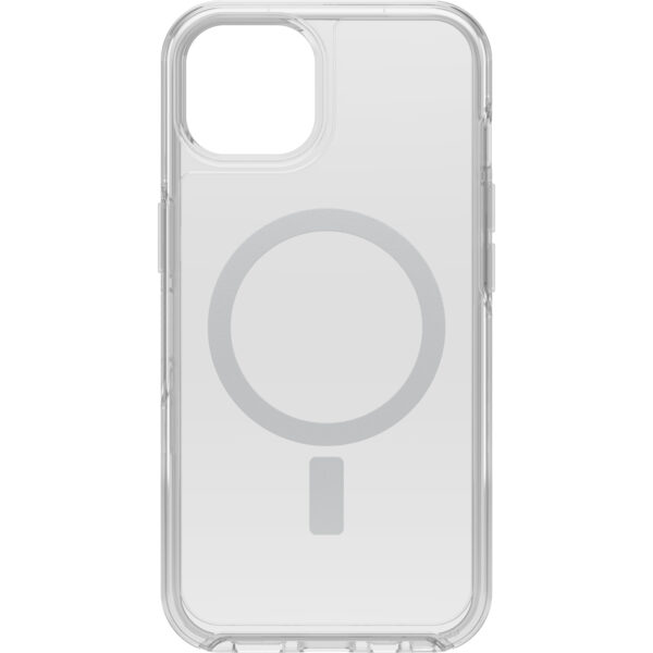 Otterbox-77-85644-OtterBox Apple  iPhone 13 Symmetry Series + Clear Antimicrobial Case for MagSafe - Ant Clear (77-85644) - Wireless charging compatible