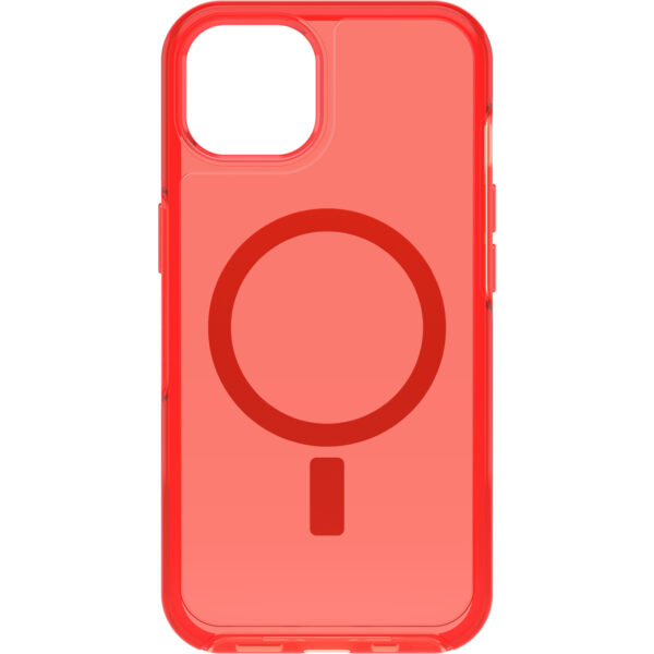 Otterbox-77-85646-OtterBox Apple  iPhone 13 Symmetry Series+ Clear Antimicrobial Case for MagSafe - Ant In The Red(77-85646) - Made with 50% recycled plastic