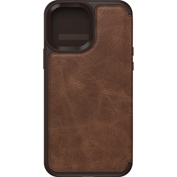Otterbox-77-85801-OtterBox Apple  iPhone 13 Pro Max Strada Series Case (77-85801) - Espresso Brown - Slim profile slips easily in and out of pockets