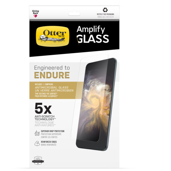 Otterbox-77-85917-OtterBox Amplify Glass Antimicrobial Screen Protector For Apple iPhone 13 mini ( 77-85917 ) - Clear - EPA-registered antimicrobial glass
