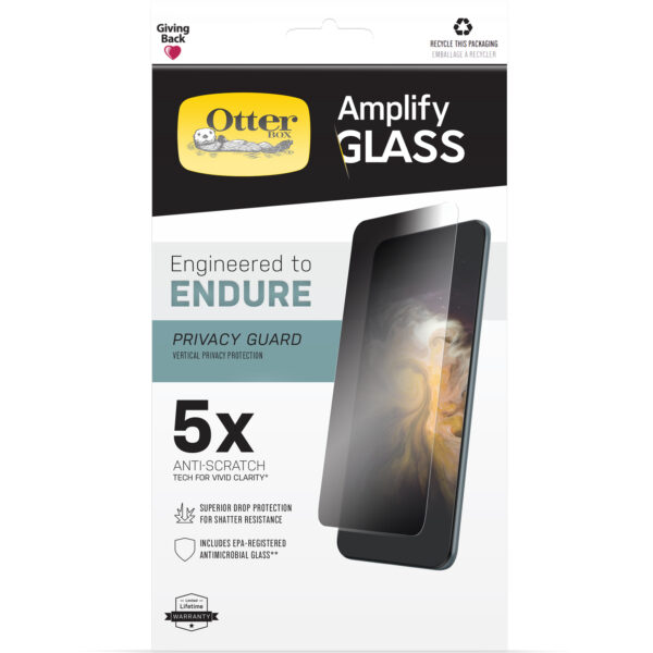 Otterbox-77-85964-OtterBox  iPhone 13 Pro Amplify Glass Privacy Screen Protector ( 77-85964 ) - Clear - Ultra-thin