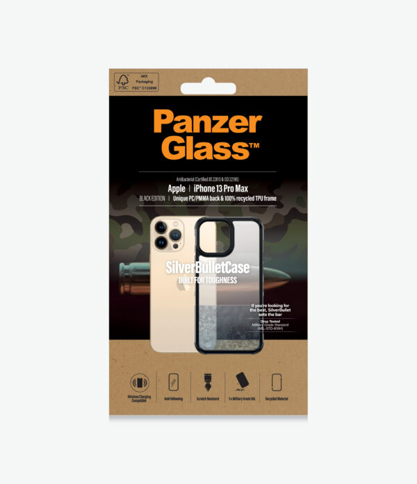 Panzer Glass-0320-PanzerGlass™ SilverBullet Case for iPhone 13 Pro Max - Most powerful ClearCase™ ever