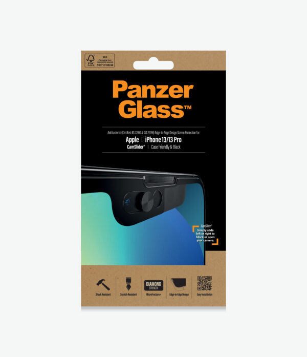 Panzer Glass-2748-PanzerGlass™ iPhone 13/13 Pro - CamSlider® - Screen Protector - Full Frame Coverage