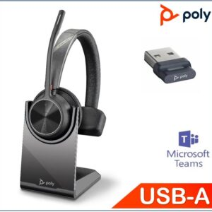 Polycom Asia Pacific Pte Ltd-218471-02-Plantronics/Poly Voyager 4310 UC with Charge Stand