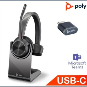 Polycom Asia Pacific Pte Ltd-218474-02-Plantronics/Poly Voyager 4310 UC with Charge Stand