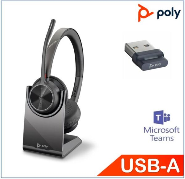 Polycom Asia Pacific Pte Ltd-218476-02-Plantronics/Poly Voyager 4320 UC with Charge Stand